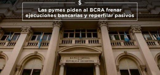 """PyMEs del país solicitaron al Banco Central frenar las ejecuciones bancarias y """"reperfilar pasivos"""""""