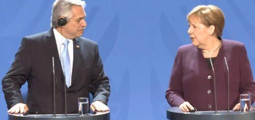 Alberto Fernández busca el apoyo de Ángela Merkel en la negociación entre Argentina y el FMI