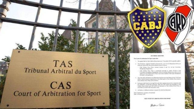 El TAS dio a conocer el fallo por los incidentes en la Superfinal entre River y Boca en Madrid