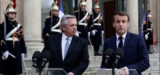 """Alberto Fernández con Macron: """"Francia se movilizará con el FMI para ayudar a la Argentina"""""""