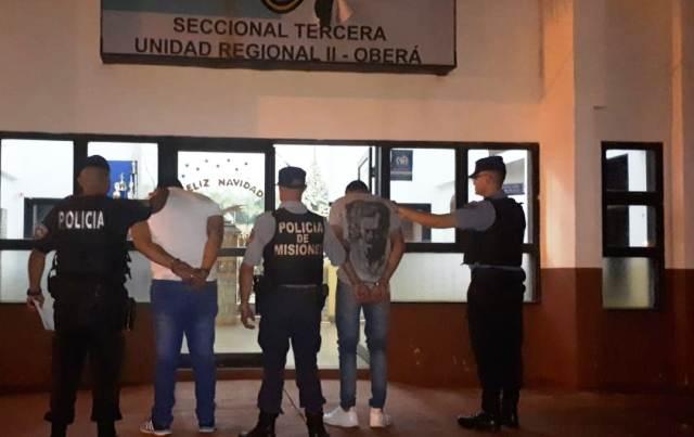 Oberá: Policías detuvieron a dos jóvenes involucrados en hechos de amenaza y abuso de arma de fuego