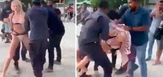 Una británica fue violentamente arrestada por usar bikini en las Islas Maldivas
