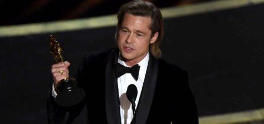 """Oscars 2020: Brad Pitt se llevó el premio a mejor actor de reparto por """"Once Upon a Time in Hollywood"""" y se lo dedicó a sus seis hijos"""