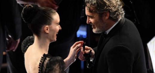 La foto de Joaquin Phoenix y Rooney Mara, after Oscar comiendo hamburguesas veganas que se hizo viral