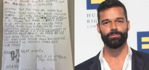 La conmovedora carta de un nene de 8 años para cumplirle el sueño a su mamá de conocer a Ricky Martin