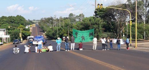 Aproximadamente veinte personas cortaron la Ruta 12 a la altura de la avenida Jauretche en Posadas