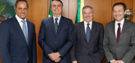 El canciller Felipe Solá fue recibido por Jair Bolsonaro en el Palacio del Planalto