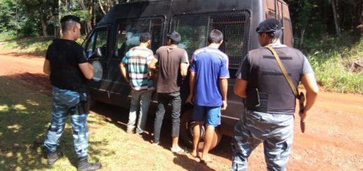 Eldorado: atraparon a tres hombres con ponchadas de yerba robada