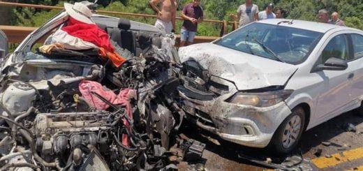 Habría cuatro muertos tras un choque sobre la Ruta 12 a la altura de Caraguatay