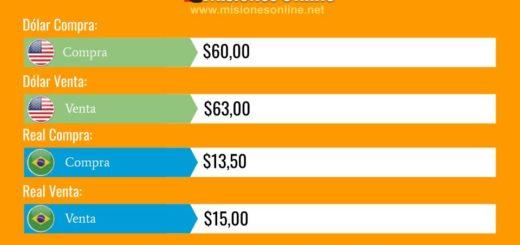 Posadas: el dólar cotiza $63 y el real $15