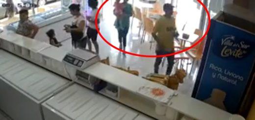 Indignación en Eldorado por un video que muestra cómo una pareja roba en una heladería frente a su pequeña hija