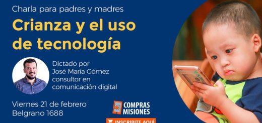 Realizarán en Posadas un taller sobre la crianza de los niños y el uso responsable de la tecnología