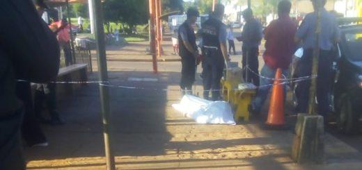 Una mujer se descompensó y murió en el acceso a la Terminal de Posadas