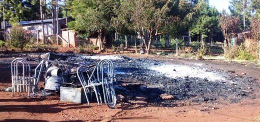 Un incendio en Campo Viera dejó a una familia sólo con lo puesto