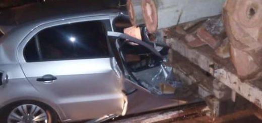 Policiales: accidente sobre ruta 105 dejó como saldo un lesionado