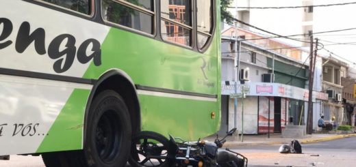 Un motociclista resultó herido tras un siniestro vial ocurrido esta mañana en Posadas