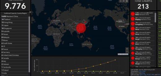 Vea el mapa con el cual monitorean el avance del coronavirus minuto a minuto