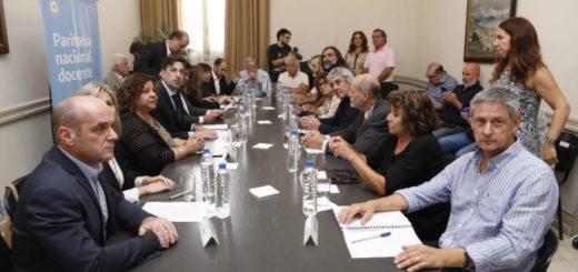 Paritaria nacional docente: hubo acuerdo entre gremios y Gobierno