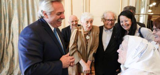 El presidente Alberto Fernández recibió a representantes de organismos de Derechos Humanos