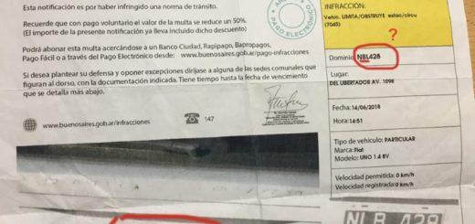 Insólito: recibió varias multas del Gobierno de Buenos Aires pero su vehículo siempre estuvo en Posadas