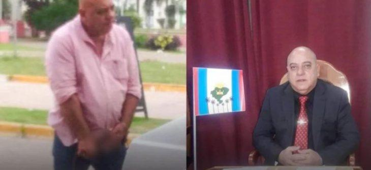 Escándalo en Corrientes: un concejal fue fotografiado ebrio y exhibiendo sus partes íntimas en la vía publica