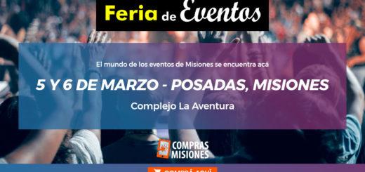 No te la podés perder: la gran Feria de Eventos llega a Posadas...Adquirí las entradas y vouchers aquí por Internet
