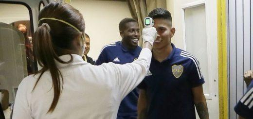 Boca llegó a Venezuela para su debut en la Libertadores y le hicieron a los jugadores un control sorpresa de Coronavirus
