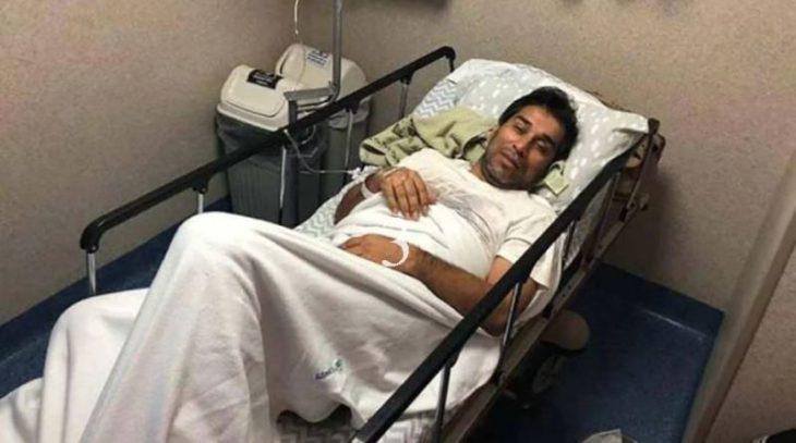 Nelson Cuevas, internado con dengue en Paraguay