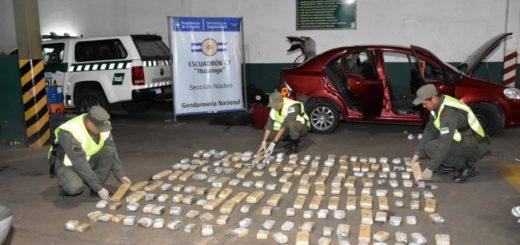 Viajaban de Posadas hacia Itatí con 69 kilos de marihuana en su automóvil
