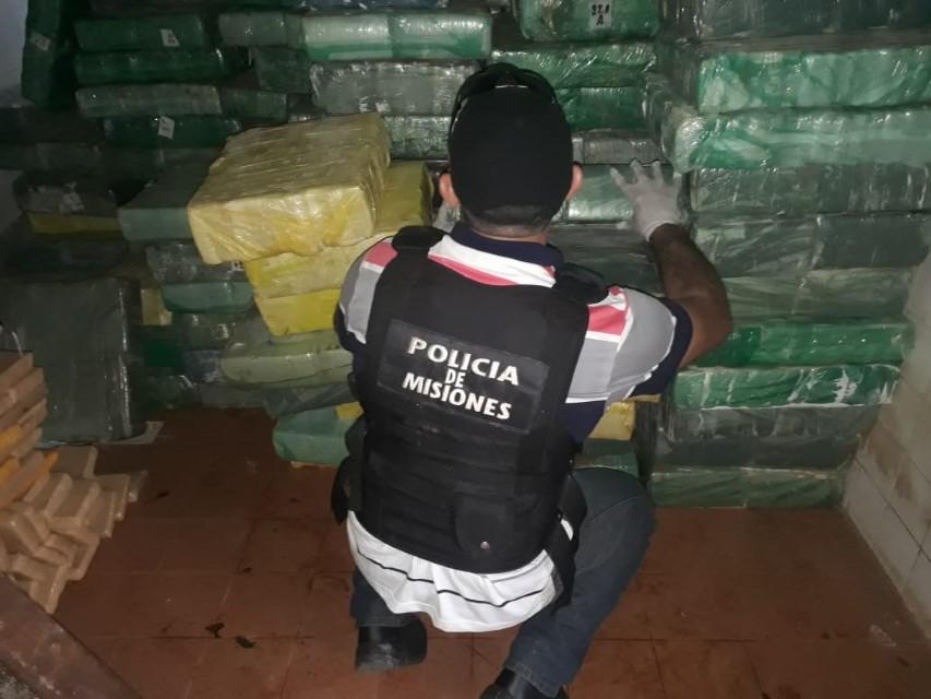 La marihuana incautada en Santa Ana superó las cinco toneladas