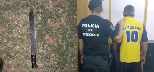 Posadas: atacó a su vecino a los machetazos y fue arrestado