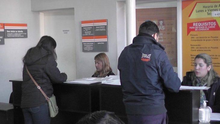 Anuncian que, por una falla en el Sistema Nacional, el Centro de Emisión de Licencias de Conducir de Posadas no está en funcionamiento