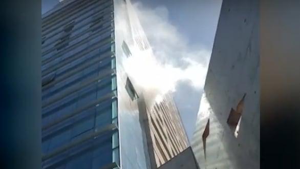 Principio de incendio en un décimo piso obligó a evacuar un edificio del microcentro posadeño