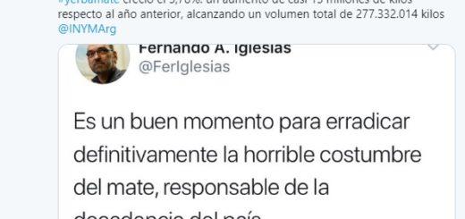 """El Ministro de Hacienda de Misiones le respondió al diputado de Cambiemos que ironizó acerca de """"erradicar el mate"""""""