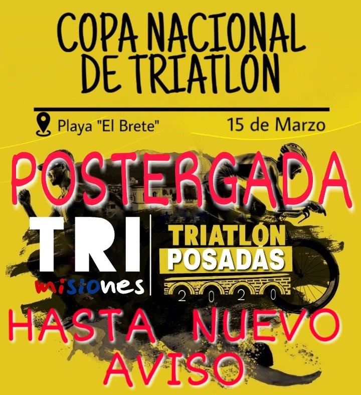 Se postergó la primera fecha del Torneo Provincial de Triatlón
