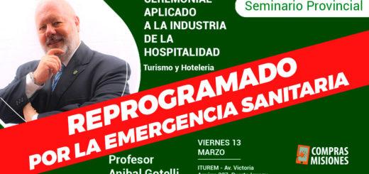Reprogramaron un seminario sobre turismo, por la Emergencia Sanitaria