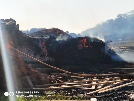 Investigan las causas del terrible incendio en el aserradero Taeda S.A. de Montecarlo, cuyas pérdidas serían totales