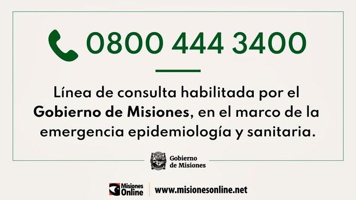 Jardín América: se activó el protocolo de seguridad por cuarentena por una ciudadana que llegó anteanoche desde Brasil