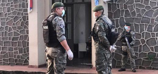 Intenso control de la Policía de Misiones en el límite con Corrientes