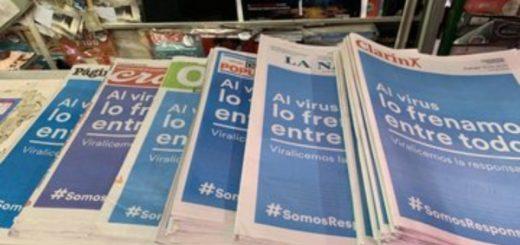 #SomosResponsables: los diarios del país unieron sus tapas en una campaña de prevención contra el coronavirus