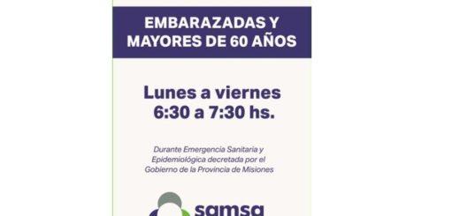 SAMSA: brindarán atención exclusiva para mayores de 60 y embarazadas por la emergencia sanitaria