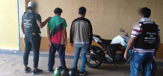 Posadas: investigadores de la UR- I detuvieron a dos hombres que fueron filmados en pleno robo