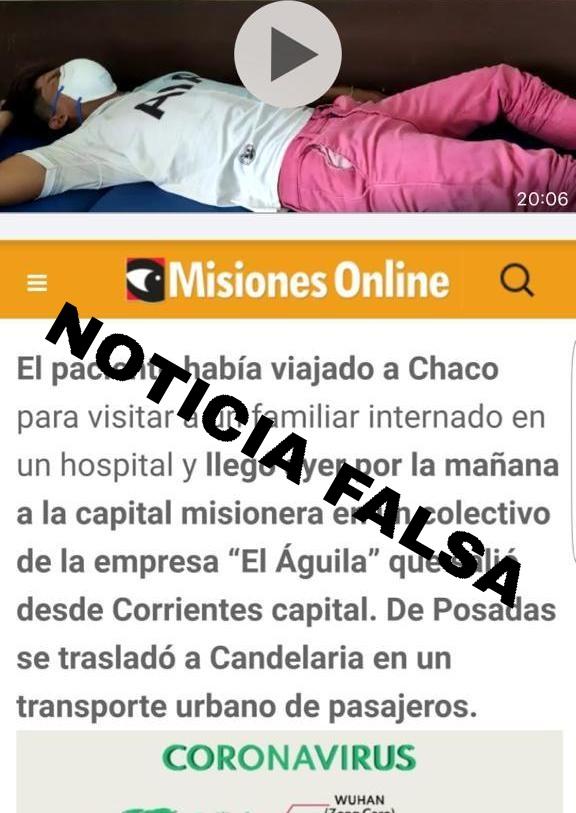 Fake News: Misiones Online desmiente publicación que circula en las redes sobre el joven que volvió de Chaco