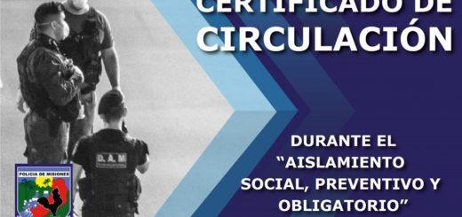 Aislamiento Obligatorio: para justificar la circulación por las calles, la Policía de Misiones emite certificados de salvoconducto sólo para ciudadanos comprendidos dentro del decreto presidencial