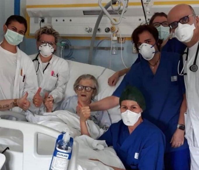 Abuela de 95 años se curó de Coronavirus en Italia