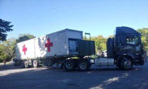 Buenos Aires: en Campo de Mayo el Ejército comenzó un despliegue para montar un hospital de campaña de atención de afectados por coronavirus