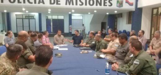 Herrera Ahuad planificó acciones de prevención junto a las fuerzas federales y la Policía de Misiones