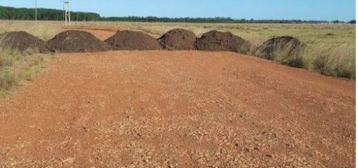 Santo Tomé: colocaron montículos de tierra en algunos caminos para evitar que los remiseros violen la cuarentena en búsqueda de pasajeros
