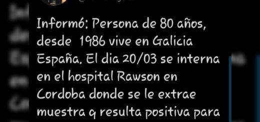 Coronavirus: es de Córdoba el caso anunciado en Misiones por las autoridades nacionales