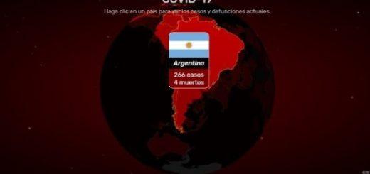 Mapa interactivo actualiza números de infectados y muertos por coronavirus en el mundo